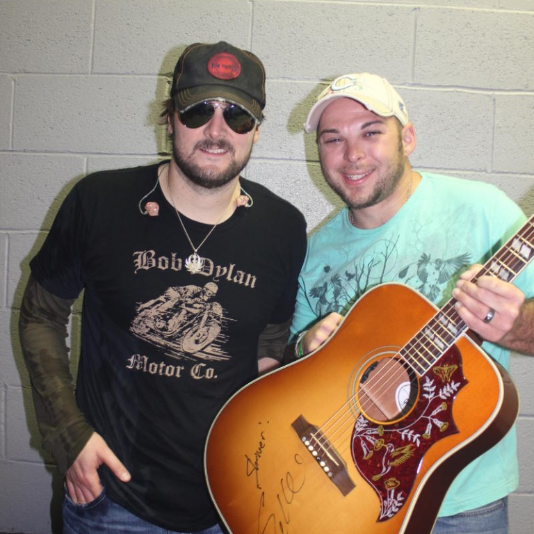 ERIC CHURCH CELEBRATES FAN'S 100TH SHOW IN STYLE.