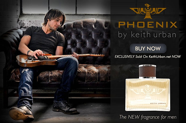 KEITH URBAN ASKS FANS TO CREATE A TV COMMERCIAL FOR HIS NEW COLOGNE, PHOENIX.
