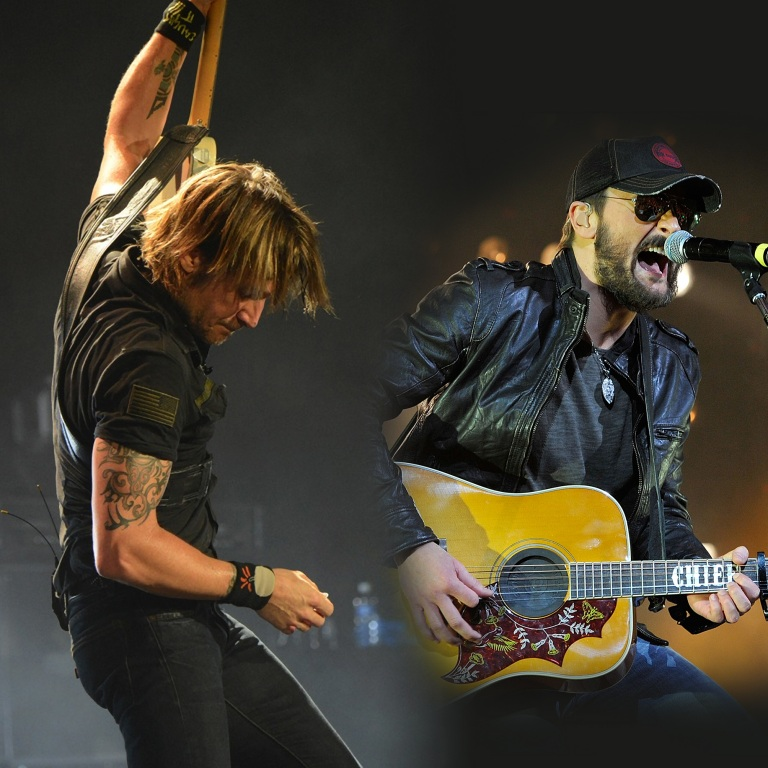 KEITH URBAN RAISES ONE UP WITH ERIC CHURCH.
