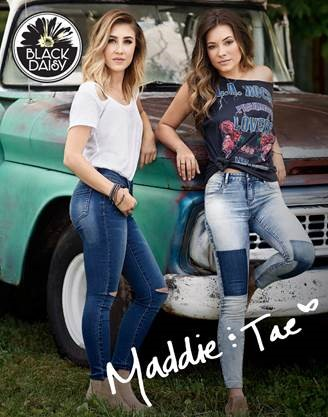 MADDIE & TAE HAVE PARTNERED WITH ONE JEANSWEAR GROUP TO LAUNCH NEW JUNIOR BRAND, BLACK DAISY.