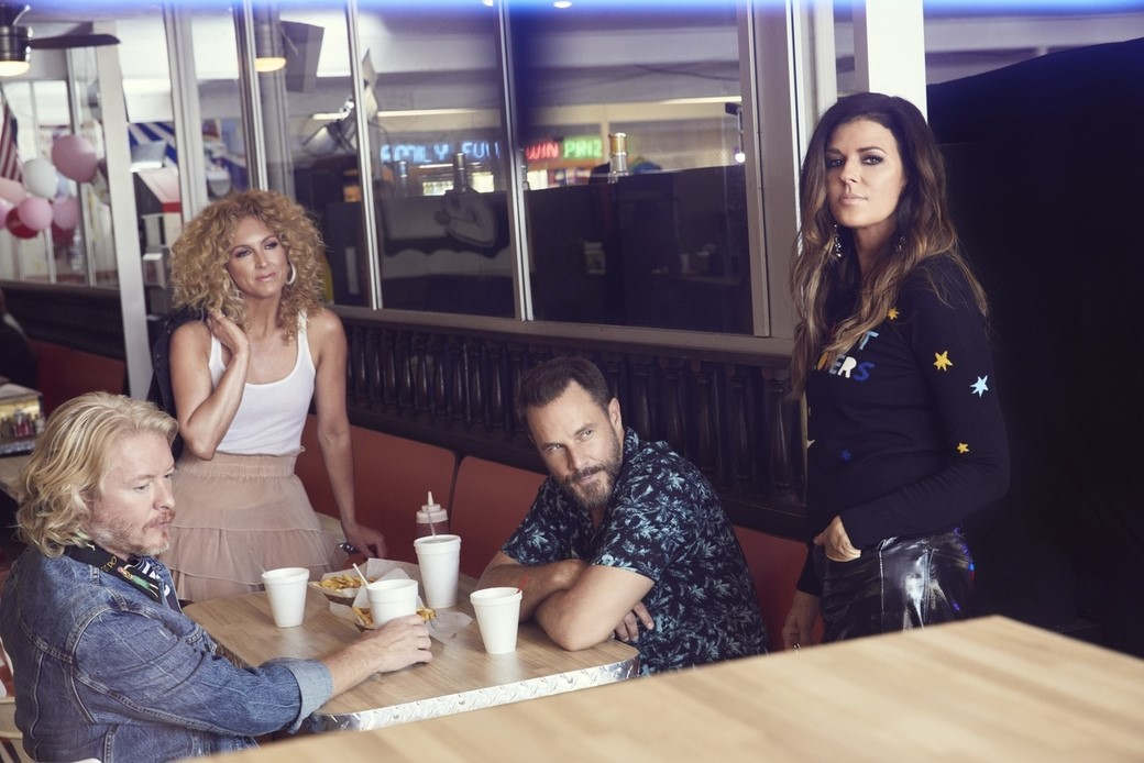 "LITTLE BIG TOWN RECORDED MOST OF THEIR BRAND NEW SINGLE, ""OVER DRINKING,"" ON THE ROAD."