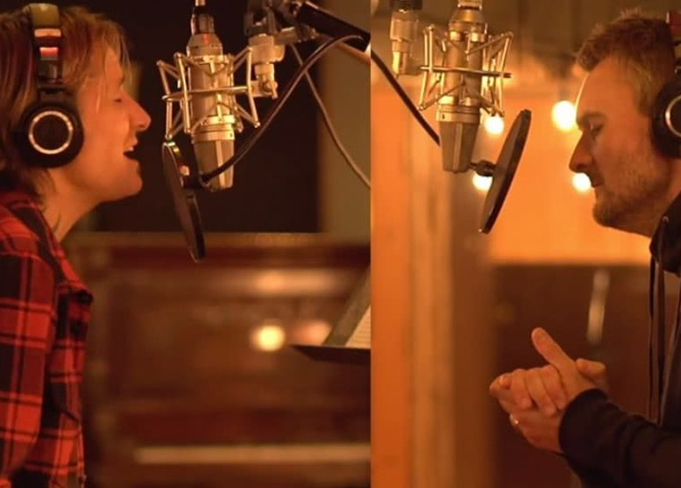 GO BEHIND-THE-SCENES WITH KEITH URBAN AND ERIC CHURCH IN THE STUDIO.