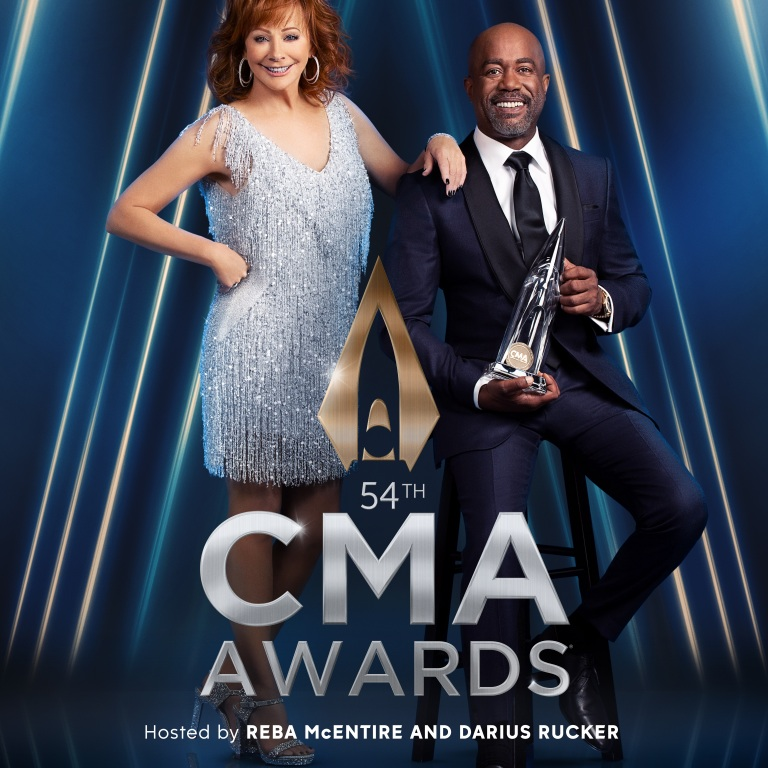 REBA McENTIRE AND DARIUS RUCKER ARE READY TO HOST THE 54TH ANNUAL CMA AWARDS.